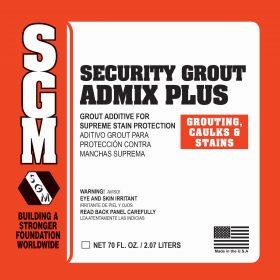 SGM — Security Grout Admix Plus