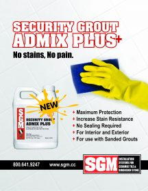 Security Grout Admix Plus Flyer