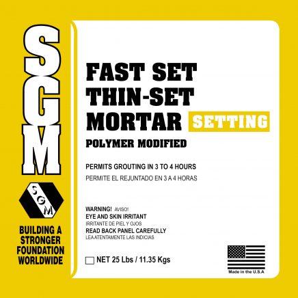 SGM — Fast Set Thin-Set Mortar (Polymer Modified)