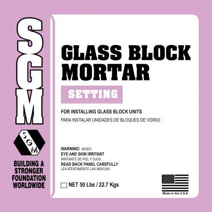 SGM — Glass Block Mortar