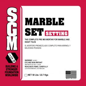 SGM — Marble Set Mortar