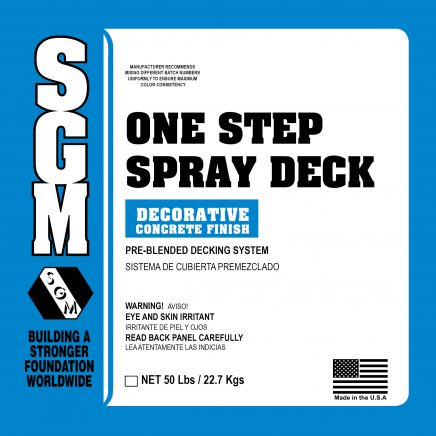 SGM — One-Step Spray Deck