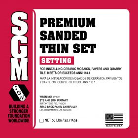 SGM — Premium Sanded Thin-Set Mortar