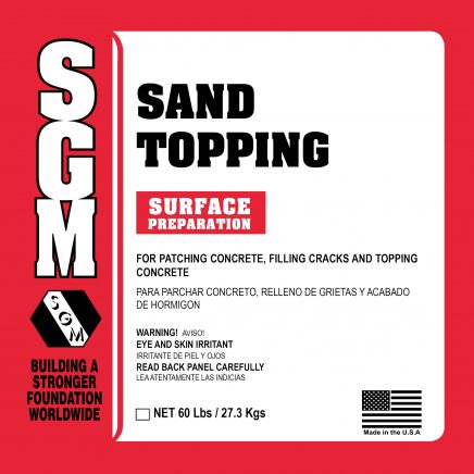 SGM — Sand Topping