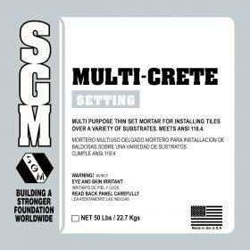 SGM — Multi-Crete All-Purpose Thin-Set Mortar