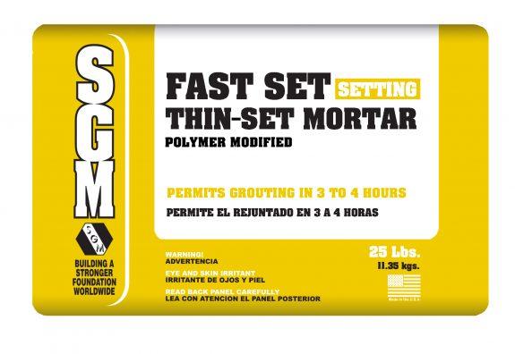 SGM — Fast Set Thin-Set Mortar (Polymer Modified) — Bag