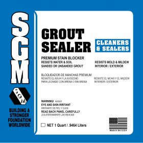 SGM — Grout Sealer (Label)
