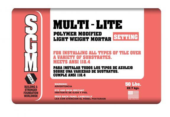 SGM — Multi-Lite Polymer Modified Light-Weight Mortar (Bag)